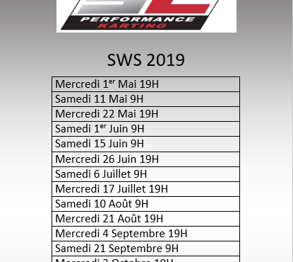 La SWS chez SC Performance karting en 2019 !